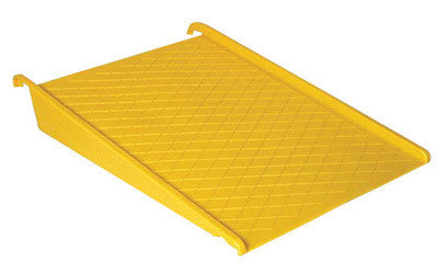 "Eagle 45 1/2"" X 32"" X 8"" Yellow HDPE Pallet Ramp For Modular Spill Containment Platforms"