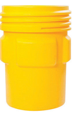 "Eagle 31"" Top Dia X 26 1/16"" Bottom Dia X 41 1/4"" Haz-Mat Yellow HDPE Containment Overpack Drum With 95 Gallon Spill Capacity And Screw On Lid Closure"
