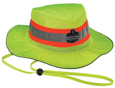 Ergodyne Large - X-Large Hi-Viz Lime Chill-Its™ 8935CT Advanced PVA Evaporative Ranger Hat With Reflective Stripes