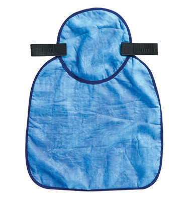 Ergodyne™ Blue Chill-Its™ 6717CT Advanced PVA Evaporative Cooling Hard Hat Neck Shade With Hook And Loop Closure And Cooling Towel