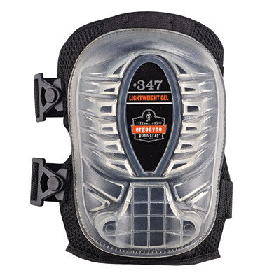 Ergodyne Black ProFlex™ 347 Gel EVA Foam Lightweight Knee Pad With Velcro Closure, Long Cap And Elastic Straps