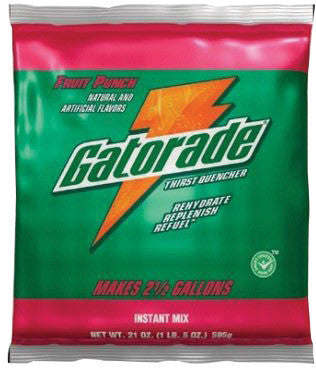 Gatorade™ 8.5 Ounce Instant Powder Concentrate Packet Fruit Punch Electrolyte Drink - Yields 1 Gallon (40 Packets Per Case)