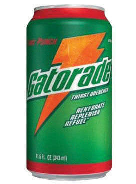 Gatorade™ 11.6 Ounce Ready To Drink Can Fruit Punch Electrolyte Drink (24 Cans Per Case)