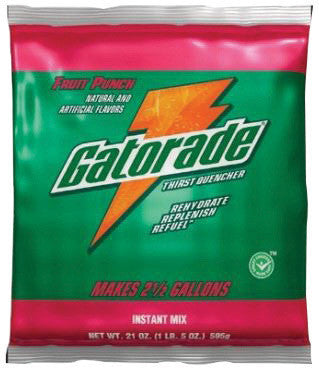 Gatorade™ 2.12 Ounce Instant Powder Concentrate Packet Fruit Punch Electrolyte Drink - Yields 1 Quart (144 Packets Per Case)