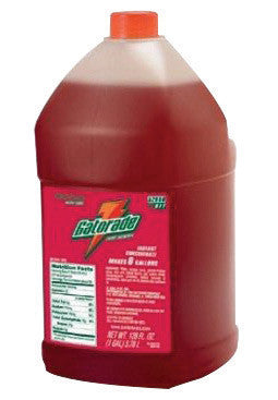 Gatorade™ 1 Gallon Liquid Concentrate Bottle Fruit Punch Electrolyte Drink - Yields 6 Gallons (4 Each Per Case)