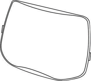 "3M Speedglas 6"" X 3 7/8"" L Series Scratch Resistant Polycarbonate Outside Cover Plate For 9100 Series Helmet"