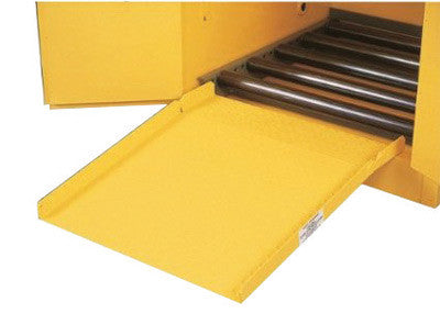"Justrite™ 28"" X 24 1/2"" Yellow Steel Drum Ramp For All Drum Cabinets"