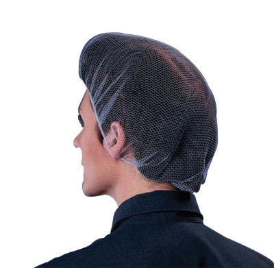 "Keystone™ 24"" White Soft Heavyweight Flame-Resistant Latex Free Nylon Honeycomb Imported Hairnet With 1/16"" Hole (100 Per Bag)"