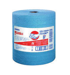 "Kimberly-Clark Professional* Wypall* X80 Shoppro™ 12-1/2"" L X 13.4"" W Blue Jumbo Roll Shop Towel (473 Sheets Per Case)"