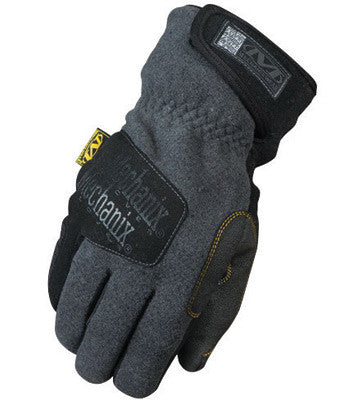 Mechanix Wear™ Medium Gray Fleece Lined Cold Weather Gloves With Double Reinforced Thumb, Hook And Loop Wrist Closure, Wind-Resistant Barrier And Rubberized Palm