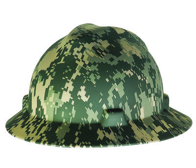 MSA Camouflage Freedom Series V-Gard™ Polyethylene Cap Style Hard Hat With Fas Trac™ 4 Point Ratchet Suspension