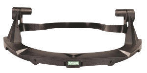 MSA Black Plastic V-Gard™ Standard Visor Frame With 3 Point Suspension For Use With Standard Series Hard Hats