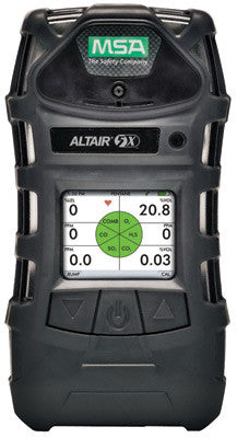 MSA ALTAIR™ 5X Portable Combustible Gas, Carbon Monoxide, Hydrogen Sulphide And Oxygen Monitor With Rechargeable Battery, Color Display, Pump, Sampling Line And Probe