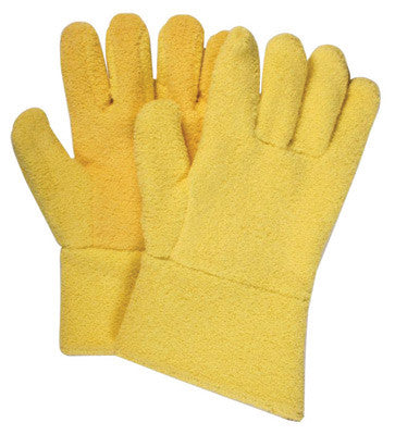 "National Safety Apparel Large 12"" Yellow 20 Ounce Kevlar™ Terrybest Terry Cloth Reversed Wool Lined Heat Resistant Gloves With Kevlar™ Terry Cuff"