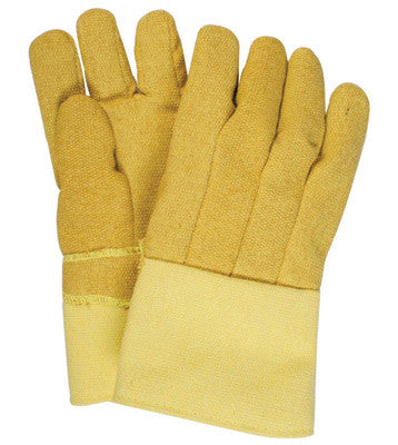 "National Safety Apparel Large 14"" Norbest 822 22 Ounce Kevlar™ PBI™ Reversed Wool Lined Heat Resistant Gloves With Straight Thumb And Gauntlet Cuff"