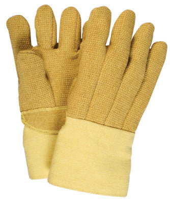 "National Safety Apparel Large 14"" Brown Norbest 845 45 Ounce Kevlar™ PBI™ Wool Lined Heat Resistant Gloves With Straight Thumb And Thermobest Gauntlet Cuff"