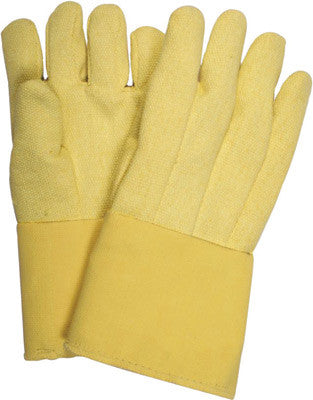 "National Safety Apparel Large 14"" 22 Ounce Thermobest Kevlar™ Reversed Wool Lined Heat Resistant Gloves With Straight Thumb And Goldenbest Gauntlet Cuff"