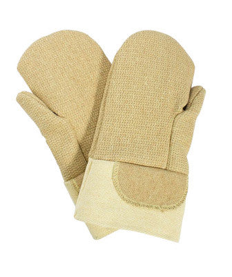 "National Safety Apparel Large 14"" Brown Norbest 845 45 Ounce Kevlar™  PBI™ Wool Lined Heat Resistant Mitten With Thermobest Gauntlet Cuff"