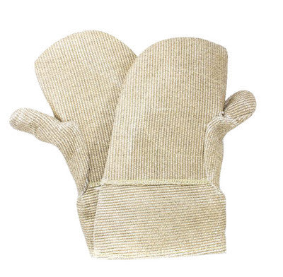 "National Safety Apparel 14"" Zetex Plus 40 Ounce Zetex Plus Reversed Wool Lined Heat Resistant Mitten With Gauntlet Cuff And Kevlar Patch"