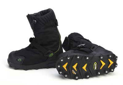 Servus™ by Honeywell Large NEOS™ Explorer Black Insulated Rubber And Nylon Overshoes With STABILicers™ Cleated Outsoles