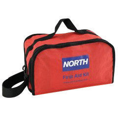 "North™ By Honeywell Redi-Care 7"" X 10 1/2"" X 6"" Red Nylon Portable Mount Large 25 Person Responder First Aid Kit"