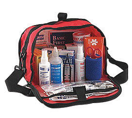 "North™ By Honeywell Redi-Care 7"" X 10 1/2"" X 6"" Red Nylon Portable Mount Large 25 Person Responder First Aid Kit With CPR Barrier"