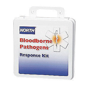 "North™ By Honeywell 7"" X 10 1/4"" X 3"" White Plastic 16 Unit Bloodborne Pathogen Response Kit"