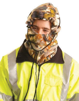 OccuNomix Camouflage 100% Polyester Plush Fleece Hot Rods™ 3-In-1 Balaclava