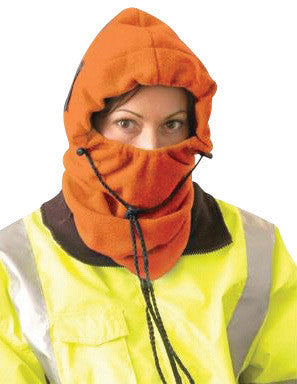 OccuNomix Hi-Viz Orange 100% Polyester Plush Fleece Hot Rods™ 3-In-1 Balaclava
