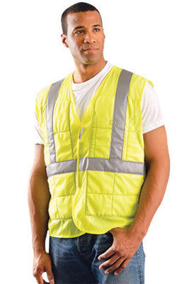 "OccuNomix Hi-Viz Yellow MiraCool™ Plus Light Weight Cool Polyester Class 2 Vest With 2"" Reflective Tape And 1 Pocket"