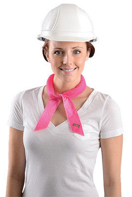 OccuNomix Pink Miracool™ Lightweight 100% cotton Cooling Bandana