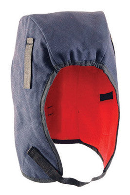 OccuNomix Navy Blue 100% Cotton Twill Hot Rods™ Classic Regular Length Winter Liner With Fleece Lining, DuPont Tyvek™ Insulated Ear Barrier And Warming Pack Pockets
