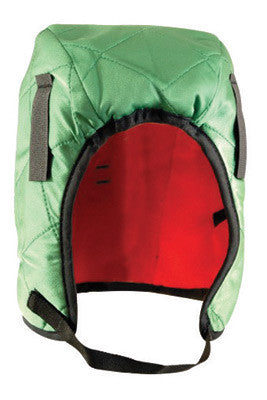 OccuNomix Green 100% Quilted Nylon Shell Hot Rods™ 3 Layer Classic Regular Length Winter Liner With Red Fleece Lining, DuPont Tyvek™ Insulated Ear Barrier And Foam Center Layer