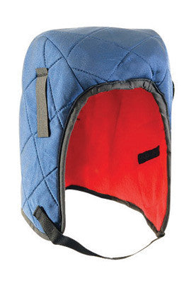 OccuNomix Navy Blue 100% Flame Resistant Quilted Nylon Hot Rods™ 3 Layer Classic Regular Length Winter Liner With Fleece Lining, DuPont Tyvek™ Insulated Ear Barrier And Double Foam Center Layer