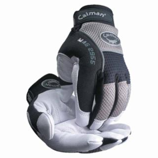 Caiman® White Goat Grain Leather Palm Gloves