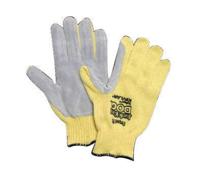 Honeywell Jumbo Yellow Junk Yard Dog Standard Weight Cut Resistant Gloves With , Kevlar™ Lined And PVC Coating