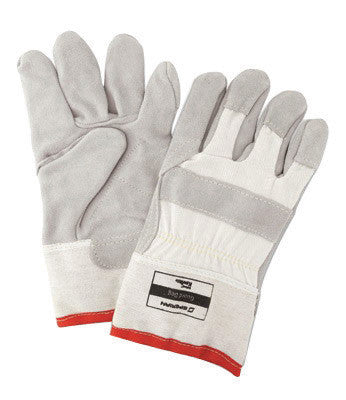 Honeywell One Size Fits Most White Guard Dog Leather Cut Resistant Gloves With Seamless Knit Wrist, Kevlar™ Lined, Reinforced Kevlar Stitched Palm