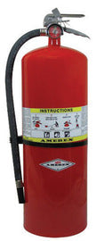 Amerex® 30 Pound ABC Dry Chemical 10A:160B:C High Performance Compliance Flow Fire Extinguisher For Class A, B And C Fires With Chrome Plated Brass Valve, Wall Bracket, Hose And Nozzle