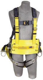 "3M™ DBI-SALA® Large ExoFit™ Derrick Full Body/Vest Style Harness With Back D-Ring with 18"" Extension Suspension, Tongue Leg Strap Buckle, Quick Connect Chest Strap Buckle, Seat Sling With Positioning D-Ring, Built-In Comfort Padding And Body Belt With Pad"