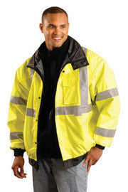 OccuNomix Yellow Polyester/Fleece/PU Coating Bomber Jacket