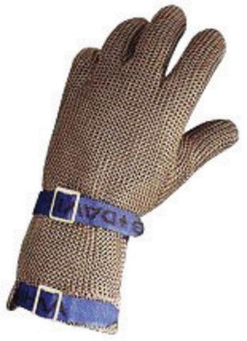 Honeywell Medium Red Sperian Whiting + Davis Stainless Steel Ambidextrous Fully Enclosed Cut Resistant Gloves With Wrist Strap Cuff And Mesh Lined