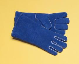 "Radnor® Ladies X-Small 12"" Blue Shoulder Split Cowhide Cotton / Foam Lined Welders Gloves"