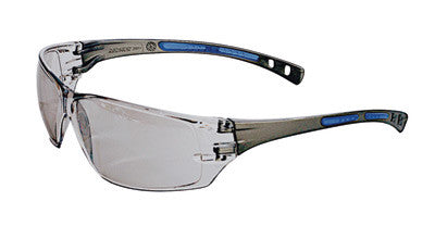 Radnor™ Cobalt Classic Series Safety Glasses With Charcoal Frame, Clear Indoor/Outdoor Lens And Flexible Cushioned Temple