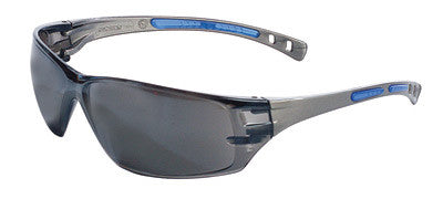 Radnor™ Cobalt Classic Series Safety Glasses With Charcoal Frame, Gray Anti-Fog Lens And Flexible Cushioned Temples
