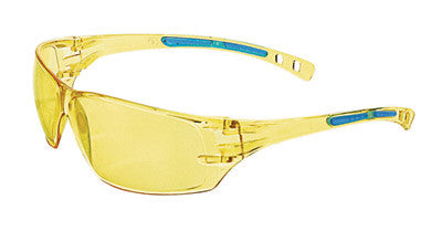 Radnor™ Cobalt Classic Series Safety Glasses With Amber Frame, Amber Lens And Flexible Cushioned Temples