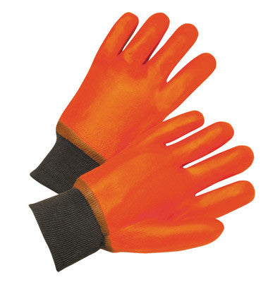 Radnor™ Large Orange PVC Jersey Lined Cold Weather Gloves With Knit Wrist