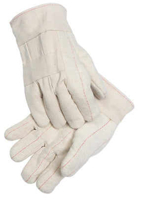 Radnor™ Heavy-Weight Nap-Out Burlap Lined Hot Mill Glove With Band Top Cuff