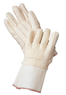 Radnor™ Standard-Weight Nap-Out Hot Mill Glove With Gauntlet Cuff