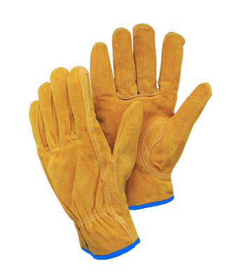 Radnor® Leather Unlined Drivers Gloves With Keystone Thumb, Slip-On Cuff And Shirred Elastic Back