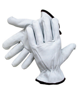 Radnor™ Small Premium Goatskin Unlined Drivers Gloves With Keystone Thumb, Slip-On Cuff, Color-Coded Hem And Shirred Elastic Back